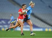 20 December 2020; Erika O'Shea of Cork in action against Jennifer Dunne of Dublin during the TG4 All-Ireland Senior Ladies Football Championship Final match between Cork and Dublin at Croke Park in Dublin. Photo by Brendan Moran/Sportsfile