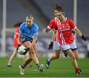 20 December 2020; Jennifer Dunne of Dublin in action against Hannah Looney of Cork during the TG4 All-Ireland Senior Ladies Football Championship Final match between Cork and Dublin at Croke Park in Dublin. Photo by Brendan Moran/Sportsfile
