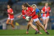 20 December 2020; Ashling Hutchings of Cork in action against Nicole Owens of Dublin during the TG4 All-Ireland Senior Ladies Football Championship Final match between Cork and Dublin at Croke Park in Dublin. Photo by Brendan Moran/Sportsfile