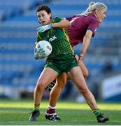 20 December 2020; Emma Troy of Meath in action against Lorraine Duncan of Westmeath during the TG4 All-Ireland Intermediate Ladies Football Championship Final match between Meath and Westmeath at Croke Park in Dublin. Photo by Brendan Moran/Sportsfile