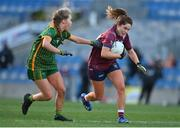20 December 2020; Sarah Dolan of Westmeath in action against Stacey Grimes of Meath during the TG4 All-Ireland Intermediate Ladies Football Championship Final match between Meath and Westmeath at Croke Park in Dublin. Photo by Brendan Moran/Sportsfile