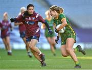 20 December 2020; Katie Newe of Meath in action against Ciara Blundell of Westmeath during the TG4 All-Ireland Intermediate Ladies Football Championship Final match between Meath and Westmeath at Croke Park in Dublin. Photo by Brendan Moran/Sportsfile