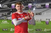 23 December 2020; Shane Barrett of Cork after receiving the Man of the Match award following the Bord Gáis Energy Munster GAA Hurling U20 Championship Final match between Cork and Tipperary at Páirc Uí Chaoimh in Cork. Photo by Matt Browne/Sportsfile