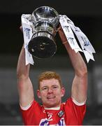 23 December 2020; Cork captain Conor O'Callaghan lifts the cup after the Bord Gáis Energy Munster GAA Hurling U20 Championship Final match between Cork and Tipperary at Páirc Uí Chaoimh in Cork. Photo by Piaras Ó Mídheach/Sportsfile