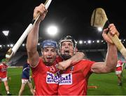 23 December 2020; Cork players Shane O'Regan, left, and Daira Connery celebrate after the Bord Gáis Energy Munster GAA Hurling U20 Championship Final match between Cork and Tipperary at Páirc Uí Chaoimh in Cork. Photo by Matt Browne/Sportsfile