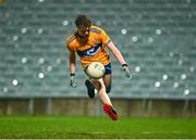 22 December 2020; Fionn Kelleher of Clare during the Electric Ireland Munster GAA Football Minor Championship Final match between Kerry and Clare at LIT Gaelic Grounds in Limerick. Photo by Eóin Noonan/Sportsfile