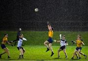 26 December 2020; Alan McManus of Roscommon wins possession under heavy rain during the Electric Ireland Connacht GAA Football Minor Championship Final match between Roscommon and Sligo at Connacht Centre of Excellence in Bekan, Mayo. Photo by Ramsey Cardy/Sportsfile