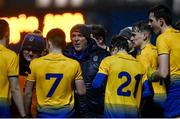 26 December 2020; Roscommon manager Emmet Durney speaks to his players during the Electric Ireland Connacht GAA Football Minor Championship Final match between Roscommon and Sligo at Connacht Centre of Excellence in Bekan, Mayo. Photo by Ramsey Cardy/Sportsfile