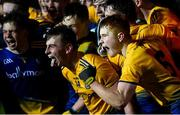 26 December 2020; Roscommon players, including captain Eoin Colleran, left, and Colm Neary, celebrate following the Electric Ireland Connacht GAA Football Minor Championship Final match between Roscommon and Sligo at Connacht Centre of Excellence in Bekan, Mayo. Photo by Ramsey Cardy/Sportsfile