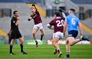 19 December 2020; Conor Raftery of Galway celebrates at the whistle during the EirGrid GAA Football All-Ireland Under 20 Championship Final match between Dublin and Galway at Croke Park in Dublin. Photo by Eóin Noonan/Sportsfile