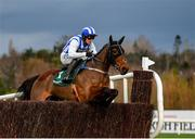 27 December 2020; Castlebawn West, with Paul Townend up, jumps the sixth on their way to winning the Paddy Power Steeplechase on day two of the Leopardstown Christmas Festival at Leopardstown Racecourse in Dublin. Photo by Seb Daly/Sportsfile