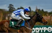 27 December 2020; Castlebawn West, with Paul Townend up, on their way to winning the Paddy Power Steeplechase on day two of the Leopardstown Christmas Festival at Leopardstown Racecourse in Dublin. Photo by Seb Daly/Sportsfile