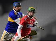 23 December 2020; Brian Roche of Cork in action against Ray McCormack of Tipperary during the Bord Gáis Energy Munster GAA Hurling U20 Championship Final match between Cork and Tipperary at Páirc Uí Chaoimh in Cork. Photo by Piaras Ó Mídheach/Sportsfile