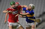 23 December 2020; Colin O' Brien of Cork fends off Johnny Ryan of Tipperary during the Bord Gáis Energy Munster GAA Hurling U20 Championship Final match between Cork and Tipperary at Páirc Uí Chaoimh in Cork. Photo by Piaras Ó Mídheach/Sportsfile