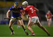 23 December 2020; Conor Bowe of Tipperary in action against Eoin Roche of Cork during the Bord Gáis Energy Munster GAA Hurling U20 Championship Final match between Cork and Tipperary at Páirc Uí Chaoimh in Cork. Photo by Piaras Ó Mídheach/Sportsfile