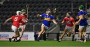 23 December 2020; Kian O'Kelly of Tipperary takes on Cork players, from left, Tommy O' Connell, Brian Roche, and Dáire Connery during the Bord Gáis Energy Munster GAA Hurling U20 Championship Final match between Cork and Tipperary at Páirc Uí Chaoimh in Cork. Photo by Piaras Ó Mídheach/Sportsfile