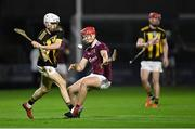 18 December 2020; Cian Kenny of Kilkenny in action against Seán Neary of Galway during the Bord Gáis Energy Leinster Under 20 Hurling Championship Semi-Final match between Kilkenny and Galway at MW Hire O'Moore Park in Portlaoise, Laois. Photo by Piaras Ó Mídheach/Sportsfile