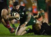 27 December 2020; Sam Arnold of Connacht is tackled by Jordi Murphy of Ulster during the Guinness PRO14 match between Connacht and Ulster at The Sportsground in Galway. Photo by Ramsey Cardy/Sportsfile