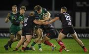 27 December 2020; Sean O'Brien of Connacht is tackled by Bradley Roberts, left, Ian Madigan, centre, and Ben Moxham of Ulster during the Guinness PRO14 match between Connacht and Ulster at The Sportsground in Galway. Photo by Ramsey Cardy/Sportsfile
