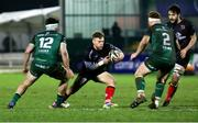 27 December 2020; Ian Madigan of Ulster in action against Tom Daly and Shane Delahunt of Connacht during the Guinness PRO14 match between Connacht and Ulster at The Sportsground in Galway. Photo by John Dickson/Sportsfile