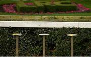 28 December 2020; Empty stools beside the parade ring prior to racing on day three of the Leopardstown Christmas Festival at Leopardstown Racecourse in Dublin. Photo by Seb Daly/Sportsfile