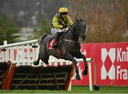 28 December 2020; Gaillard Du Mesnil, with Paul Townend up, jumps the last on their way to winning the Tote.ie Maiden Hurdle on day three of the Leopardstown Christmas Festival at Leopardstown Racecourse in Dublin. Photo by Seb Daly/Sportsfile