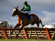 29 December 2020; Concertista, with Paul Townend up, jumps the third on their way to winning the Advent Insurance Irish EBF Mares Hurdle on day four of the Leopardstown Christmas Festival at Leopardstown Racecourse in Dublin. Photo by Seb Daly/Sportsfile