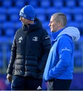 29 December 2020; Head coach Leo Cullen, left, and senior coach Stuart Lancaster during Leinster Rugby squad training at Energia Park in Dublin. Photo by Ramsey Cardy/Sportsfile