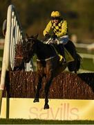 1 January 2021; Al Boum Photo, with Paul Townend up, jumps the last on their way to winning the Savills New Year's Day Steeplechase at Tramore Racecourse in Waterford. Photo by Seb Daly/Sportsfile