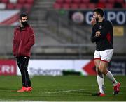 2 January 2021; Munster head coach Johann van Graan and Stuart McCloskey of Ulster prior to the Guinness PRO14 match between Ulster and Munster at Kingspan Stadium in Belfast. Photo by David Fitzgerald/Sportsfile