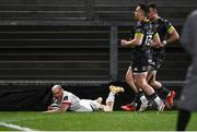 2 January 2021; Matt Faddes of Ulster scores his side's first try during the Guinness PRO14 match between Ulster and Munster at Kingspan Stadium in Belfast. Photo by David Fitzgerald/Sportsfile