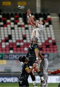 2 January 2021; Kieran Traedwell of Ulster wins the ball in the lineout during the Guinness PRO14 match between Ulster and Munster at Kingspan Stadium in Belfast. Photo by John Dickson/Sportsfile
