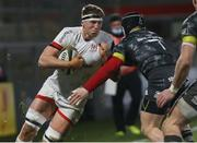 2 January 2021; Matty Rea of Ulster is tackled by Chris Cloete of Munster during the Guinness PRO14 match between Ulster and Munster at Kingspan Stadium in Belfast. Photo by John Dickson/Sportsfile