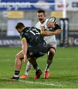 2 January 2021; Billy Burns of Ulster is tackled by Dan Goggin of Munster during the Guinness PRO14 match between Ulster and Munster at Kingspan Stadium in Belfast. Photo by John Dickson/Sportsfile