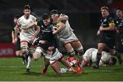 2 January 2021; Jack O'Donoghue of Munster is tackled by David McCann of Ulster during the Guinness PRO14 match between Ulster and Munster at Kingspan Stadium in Belfast. Photo by David Fitzgerald/Sportsfile