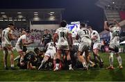 2 January 2021; Ulster players celebrate after holding up Munster on the line during the Guinness PRO14 match between Ulster and Munster at Kingspan Stadium in Belfast. Photo by David Fitzgerald/Sportsfile