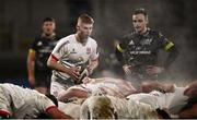 2 January 2021; Nathan Doak of Ulster prepares to put the ball into the scrum during the Guinness PRO14 match between Ulster and Munster at Kingspan Stadium in Belfast. Photo by David Fitzgerald/Sportsfile
