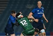 2 January 2021; Tom Daly of Connacht is tackled by Jonathan Sexton of Leinster during the Guinness PRO14 match between Leinster and Connacht at the RDS Arena in Dublin. Photo by Piaras Ó Mídheach/Sportsfile