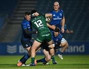 2 January 2021; Tom Daly of Connacht is tackled by Jonathan Sexton, left, and Rory O'Loughlin of Leinster during the Guinness PRO14 match between Leinster and Connacht at the RDS Arena in Dublin. Photo by Piaras Ó Mídheach/Sportsfile