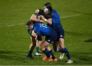 2 January 2021; Tom Daly of Connacht is tackled by Rory O'Loughlin, left, and Jonathan Sexton of Leinster during the Guinness PRO14 match between Leinster and Connacht at the RDS Arena in Dublin. Photo by Ramsey Cardy/Sportsfile