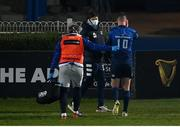 2 January 2021; Jonathan Sexton of Leinster leaves the pitch for a head injury assessment during the Guinness PRO14 match between Leinster and Connacht at the RDS Arena in Dublin. Photo by Ramsey Cardy/Sportsfile