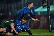 2 January 2021; Jonathan Sexton of Leinster is tackled by Sean Masterson of Connachtduring the Guinness PRO14 match between Leinster and Connacht at the RDS Arena in Dublin. Photo by Piaras Ó Mídheach/Sportsfile