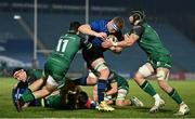 2 January 2021; Dan Leavy of Leinster is tackled by Alex Wootton and Eoghan Masterson of Connacht during the Guinness PRO14 match between Leinster and Connacht at the RDS Arena in Dublin. Photo by Brendan Moran/Sportsfile