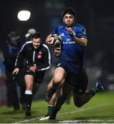 2 January 2021; Jimmy O'Brien of Leinster beats the tackle of Tom Daly of Connacht during the Guinness PRO14 match between Leinster and Connacht at the RDS Arena in Dublin. Photo by Ramsey Cardy/Sportsfile