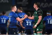 2 January 2021; Dan Leavy of Leinster and Gavin Thornbury of Connacht following the Guinness PRO14 match between Leinster and Connacht at the RDS Arena in Dublin. Photo by Ramsey Cardy/Sportsfile