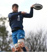 4 January 2021; Caelan Doris wins a lineout during Leinster Rugby squad training at UCD in Dublin. Photo by Ramsey Cardy/Sportsfile