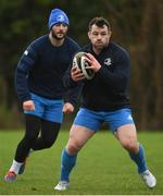 4 January 2021; Cian Healy, right, and Robbie Henshaw during Leinster Rugby squad training at UCD in Dublin. Photo by Ramsey Cardy/Sportsfile