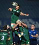 2 January 2021; Quinn Roux of Connacht during the Guinness PRO14 match between Leinster and Connacht at the RDS Arena in Dublin. Photo by Brendan Moran/Sportsfile