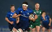 2 January 2021; Ryan Baird of Leinster during the Guinness PRO14 match between Leinster and Connacht at the RDS Arena in Dublin. Photo by Brendan Moran/Sportsfile