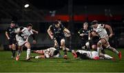 2 January 2021; Jack O'Donoghue of Munster makes a break during the Guinness PRO14 match between Ulster and Munster at Kingspan Stadium in Belfast. Photo by David Fitzgerald/Sportsfile